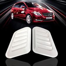 2x Universal Car Decorative Air Flow Intake Scoop Bonnet Side Fender Vent White
