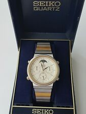 Seiko 7A48-5000 Sports100 Mondphase Vintage Quartz Chrono Rarität Japan 1985 Box