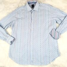 TAILORBYRD Collection Men's Shirt Size XL Blue Button Front Long Sleeve Casual