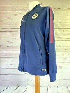 MANCHESTER CITY Training Tracksuit Top Women's Medium | Football Top/Nike Jacket