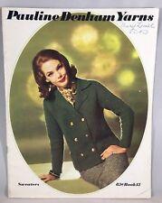 Vtg Knitting Patterns Pauline Denham Yarns Sweaters Book 15 Women's Men's 1960s