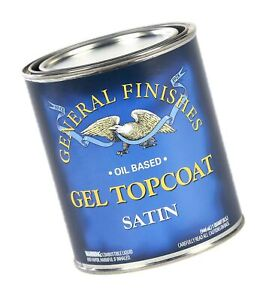 General Finishes Oil Based Gel Topcoat, 1/2 Pint, Satin 1 Half-Pint