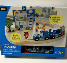 BRIO Wooden Railway UNICEF Immunization Railway Set with VIRUS Figure RARE NIB