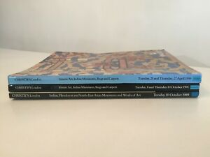 3 x CHRISTIE'S AUCTION CATALOGUES - ISLAMIC INDIAN HIMILAYAN ART 1989 - 1995