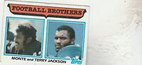 FREE SHIPPING-NRMINT TO VG-1982 Topps #268 Monte Jackson / Terry Jackson