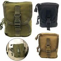 Outdoor Military Tactical Airsoft Waist Hanging Bag EDC Tool Zipper Pack Pouch