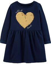 Carter's Sequin Heart Fleece Dress for 3M Baby Girls