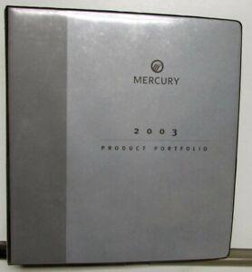 2003 Mercury Product Portfolio Grand Marquis Marauder Sable Mountaineer