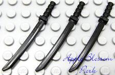 NEW Lego Chima Lot/3 BLACK KATAR Weapons -Ninjago Ninja Katana Minifig Sword