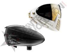 Dye Precision I4 R2 Paintball Mask Loader Combo White Gold Black