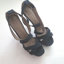 BCBG Maxazria Alaia Leather Blue Shoes - Size 9.5 - NEW