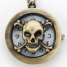 Retro Bronze Mini Pendant Quartz Pocket Watch Key Chain Key Ring Watch Gift