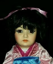 Reproduction Simon&Halbig 1329 Doll on New Seely Body w/ Kimono Dress 8