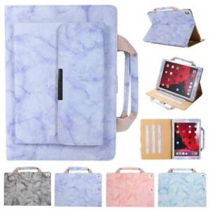 "For iPad 5th 6th 7th Gen 9.7"" 10.2"" 10.5"" Mini Handbag Leather Marble Case Cover"