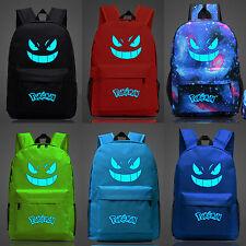 Pokemon Go Canvas Backpack Gengar Galaxy Shoulder Bag Schoolbag Cycling Rucksack