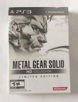 Metal Gear Solid (Playstation 3) PS3 HD Collection Limited Edition New Sealed!