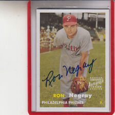 "2006 TOPPS HERITAGE RON NEGRAY ""DODGERS/PHILLIES AUTOGRAPH AUTO"
