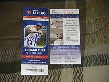 KRIS BRYANT SIGNED  MLB DEBUT GAME SEASON TICKET STUB JSA ROOKIE GRAPH COA 4/17