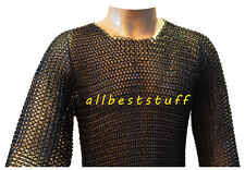 Large Butted Chain Mail Shirt Steel Blackened or Oiled M1