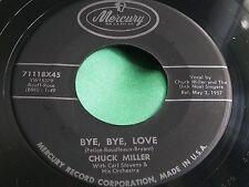 Rare R&B 45 : Chuck Miller ~ Bang Tang Ding Dong ~ Bye, Bye Love ~ Mercury 71118