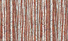 Landscapes Silver Birch Trees 100% Cotton  Fabric by Makower FQ 50cm x 55cm