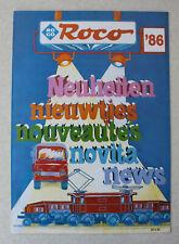 Prospekt Roco Neuheiten 1986: Modellbahnen Spur H0, N und Zubehör