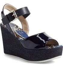 AGL Women's Blue Wedge Sandal 6107 Size 40 EU