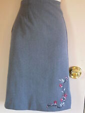 Clio Skirt Size10 Gray Above Knee A-Line Polyester Rayon Spandex Solids