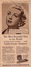 Original advert(1953)Lana Turner THE BAD AND THE BEAUTIFUL promotes Lustre-Creme