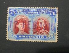 Rhodesia 1910-13 7/6d Double head USED SG 160bvar Cat £1200