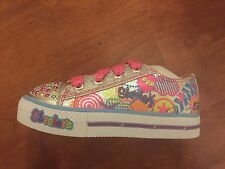 SKECHERS 8 TODDLER TWINKLE TOES SHOES LIGHTS UP!!!