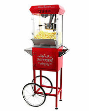 Paramount 8oz Popcorn Maker Machine & Cart - New Upgraded 8 oz Popper [Red]