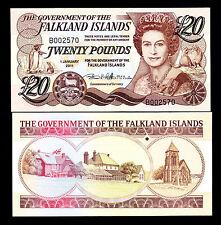 Falkland Islands 20 Pounds 2011 UNC P. New QEII Note