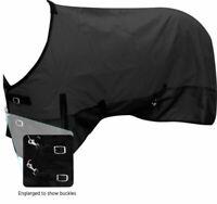 Showman Black 1200 Denier Waterproof & Breathable Turnout Winter Horse Blanket