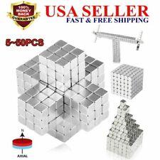 5 50pcs Neodymium N35 Block Square Cube Magnets Strong 10x10x10mm Rare Earth Us