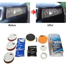 Kit de réparation restauration lentille phare voiture  Outil nettoyage polissage