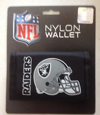 OAKLAND RAIDERS NYLON TRIFOLD WALLET BILLFOLD NFL LICENSED NEW