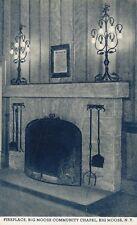 Big Moose NY * Fireplace in Community Chapel ca. 1940s * Adirondacks Herkimer Co