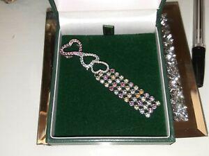 18ct Gold Large Multi Color Sapphire and Diamond Pendant