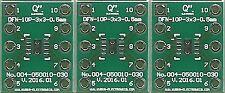 """3 PCS. - DFN10-3x3 0.50mm(0.02"""") to DIP10 0.3"""" socket. [CA]"""