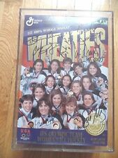1998 Women's OLYMPIC ice hockey gold medal signed WHEATIES box in lucite