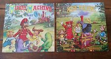 THE MUSIC MACHINE PART 1 & 2 1977 ATARI 2600 CANDLE 2 LP RECORD ALBUMS CLEAN!