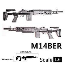 1/6 Scale 12 inch Action Figure M14BER MK 14 Mod Battle Rifle Gun Weapon Model