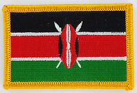 KENYA KENYAN FLAG PATCHES backpack  PATCH BADGE IRON ON NEW EMBROIDERED