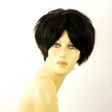 perruque femme 100% cheveux naturel carré méchée noir/cuivré WANDA 1b30