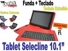 """FUNDA CON TECLADO TABLET SELECLINE PC11 9QL 10.1""""  fundas TECLADO EXTRAIBLE"""