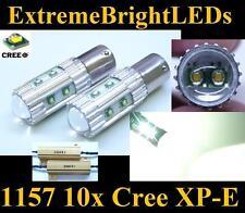 TWO HID WHITE 50W 10x Cree XP-E 1157 2357 Turn Signal Lights + 2 Load Resistors