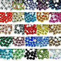 WHOLESALE Lots 1440pcs10GRS High Quality Crystal FlatBack No-Hot Fix Rhinestones