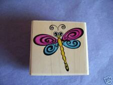 STAMPABILITIES RUBBER STAMPS TWIRLY DRAGONFLY STAMP LAST ONE