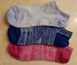 3 Pair Nike Womens Socks Dri-Fit / No Show (Multi Colors)